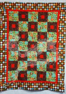 Monkey quilt - baby shower gift