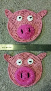 Pig scrubbies - finished