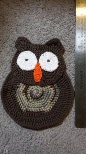 owl dishcloth