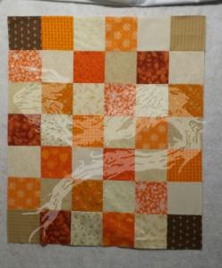 Twin to the previous smaller baby quilt.